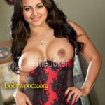 Big boobs Sonakshi Sinha topless without bra hot nipple pic