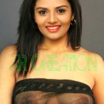 Hot Anchor Sreemukhi nude cleavage in sexy shirt without button