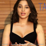 Priducer touching Tamanna bra big fake boobs hot cleavage