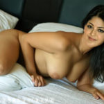 Sexy actress Kajal Aggarwal pierced nipple naked boobs press