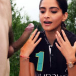 Hot Sonam Kapoor ass fucked in red dress by black cock