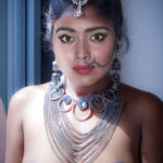 Nude hot cleavage Shriya Saran not wearing bra for award function fake
