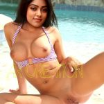 Anu Emmanuel forced to suck black cock cum on her boobs pressed