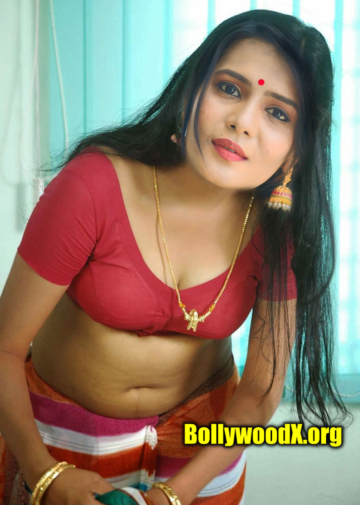 Meera Mitun hot red blouse without saree first night photo leaked