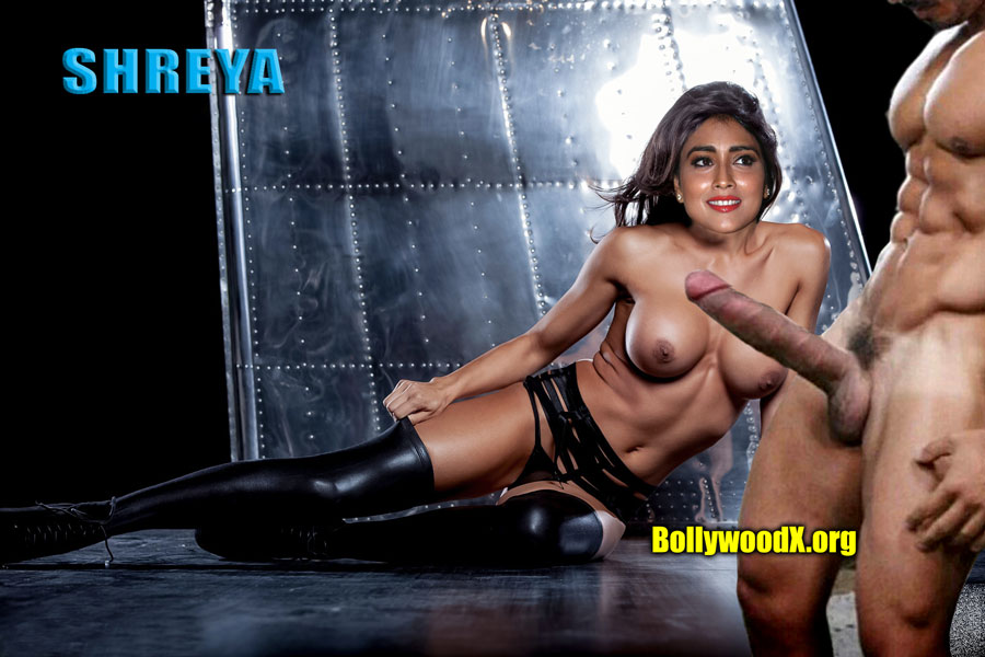 Shriya Saran topless small boobs without bra with big white cock