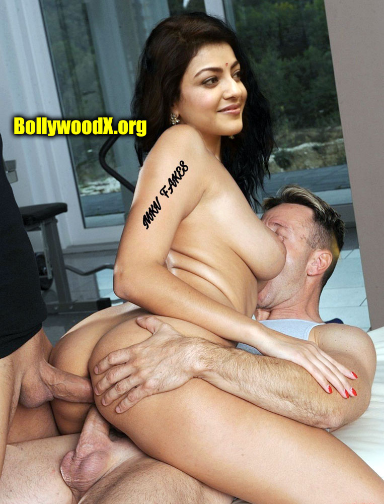 Actress Kajal A Kitchlu fucking her husband and her friend cock double penetration