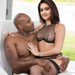 Keerthi Suresh hot nipple in black net bra with black man