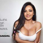 Kajal Agarwal nude cleavage in white top big fake boobs