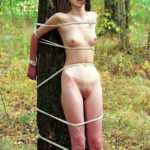 Juhi Chawla naked body tied outdoor in forest bondage pic