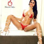 Ranjini Jose red bikini without clothes sexy leg nude navel pic