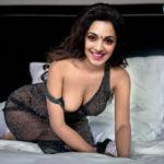 Kiara Advani nude cleavage one side nipple visible sexy boobs strip open