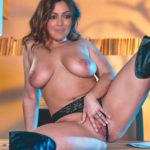 Topless heroine Catherine Tresa spreading her pundia private masturbating photo