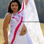 Trisha nude pregnant navel exposed in white Saree xxx actress fake
