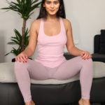 Hebah patel In tight Yoga dress xxx hot actress sexy picture