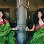 Mithila Palkar saree slip nude nipple hot boobs exposed without bra and blouse