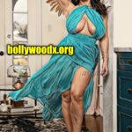Anushka Shetty big boobs cleavage naked thigh in mini skirt