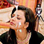 Kajal fan cum on her face xxx fake