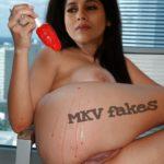 Naked Rashmi Gautam inserting ice cream in her ass hole