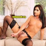 Topless small boobs actress Rashmi Gautam dildo inside her pussy hole