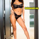 Sexy Naked Bollywood Actress Sara Ali Khan 2 piece bikini black bra undies