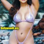 Sexy Pragya Jaiswal nude bikini exposing navel pool side pic