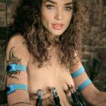 Amy Jackson small boobs torture naked nipple bdsm