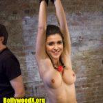 Mannara Chopra naked body tied slave actress bdsm