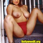 Busty boobs Sony Charishta topless red pantie photo
