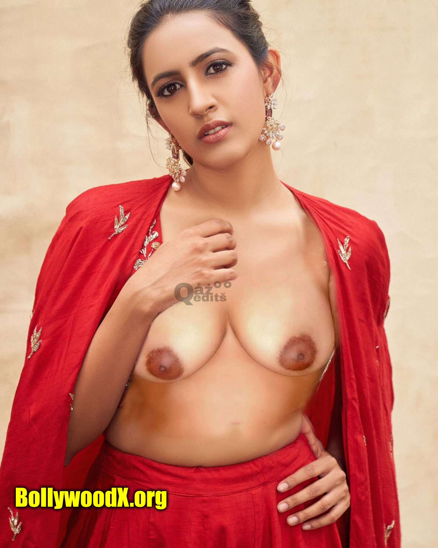 Niharika Konidela undress nude small boobs nipple without bra