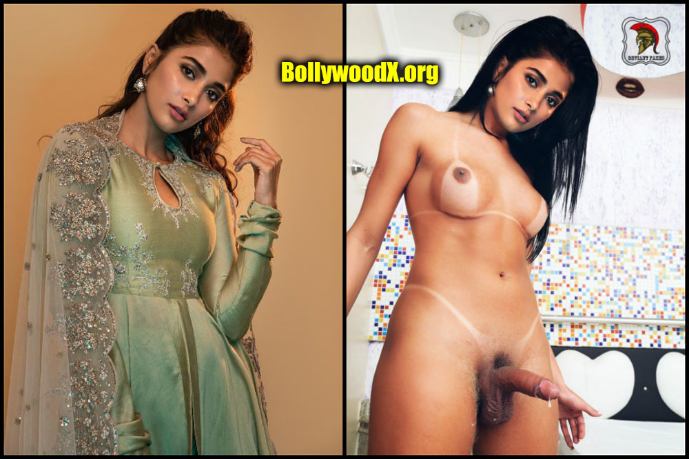 Pooja Hegde nude shemale cock cum with dress collage edit