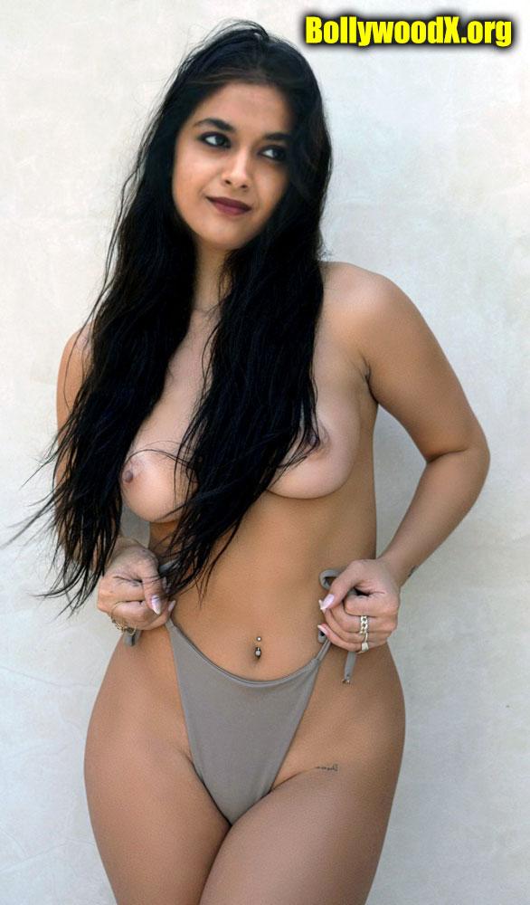 Keerthy Suresh Nude sexy Boobs tweet without bra